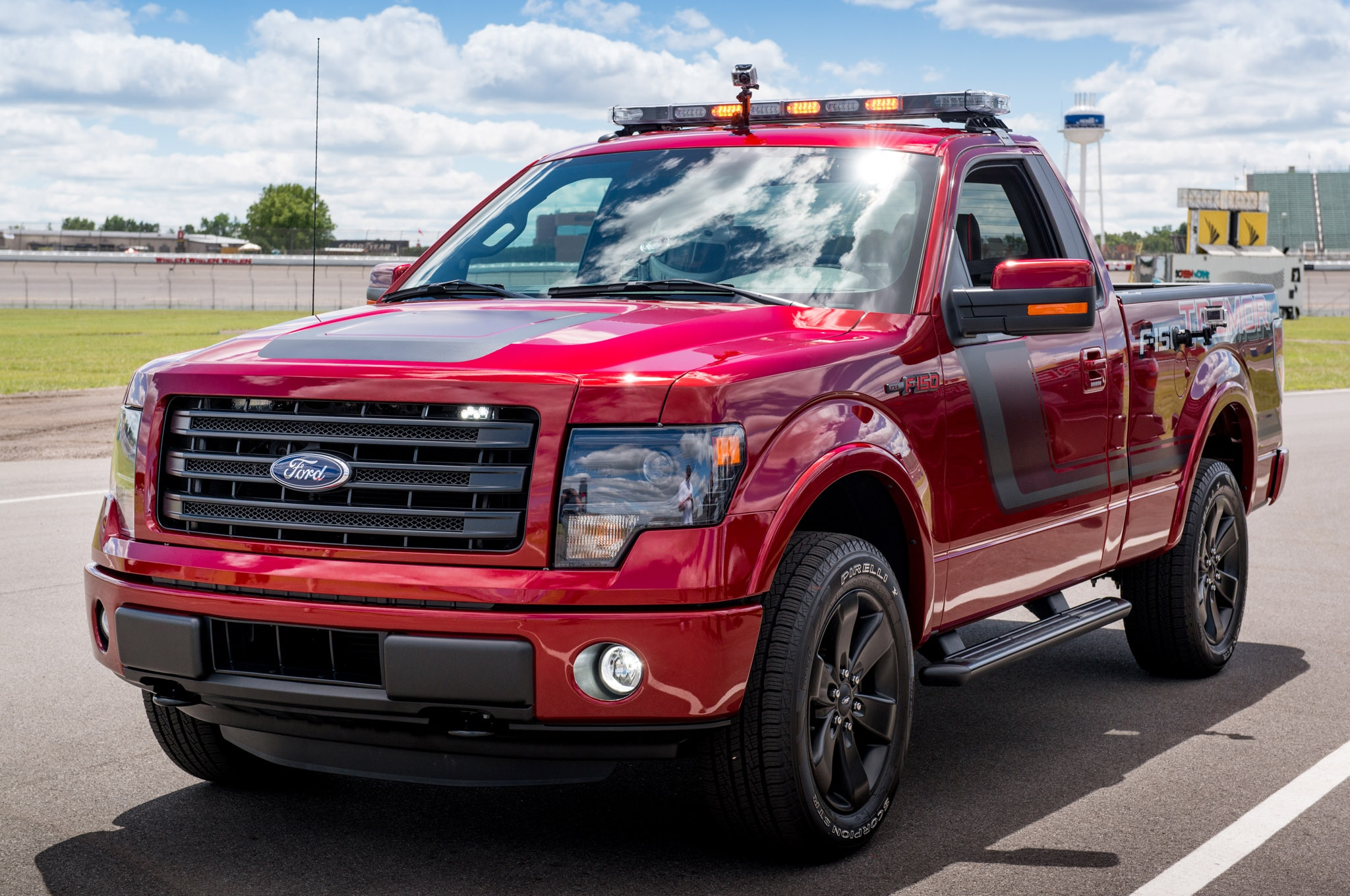 Pacing Michigan International Speedway in a 2014 Ford F 150 Tremor