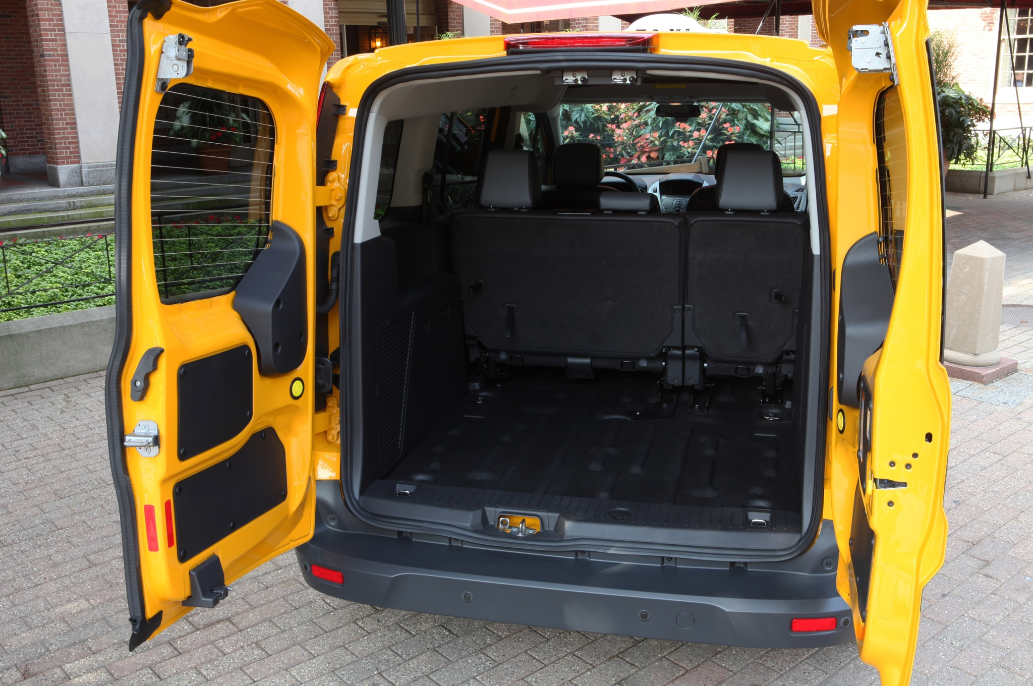 2014 Ford Transit Connect Taxi cargo area 2014 ford transit connect taxi version shown