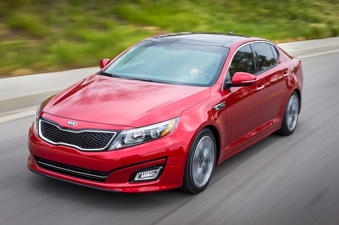 2014 Kia Optima Front Three Quarters1