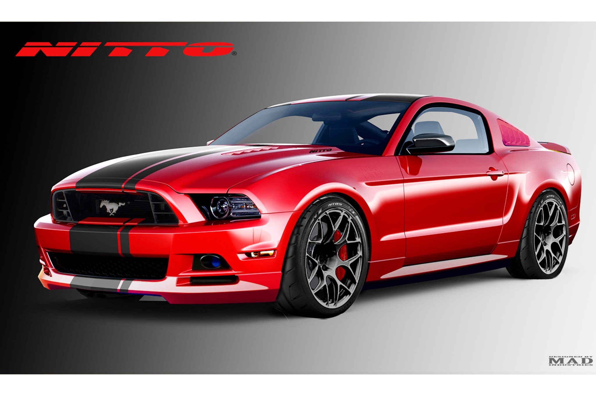 Excellent 2014 Ford Fiesta ST, Mustang GT Modified For 2013 SEMA Show QM26