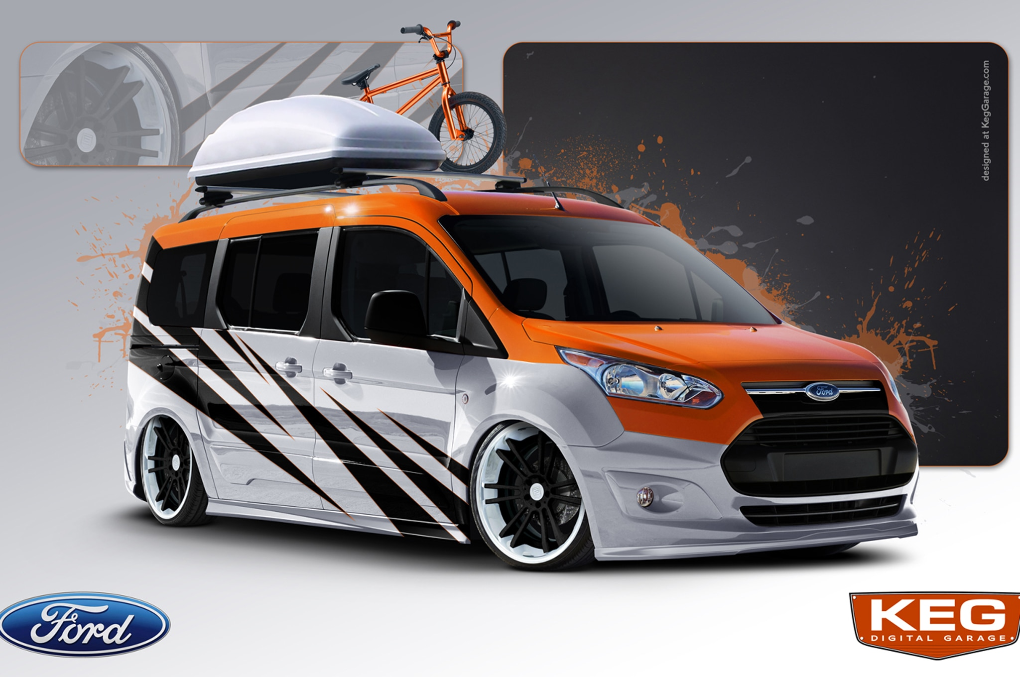 66f41cfc399c ... modified 2014 Ford Transit Connect vans will be on display at the 2013  SEMA show starting Tuesday