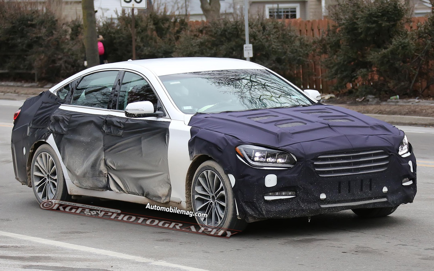 2015 Hyundai Genesis Spy Front Three Quarters 1