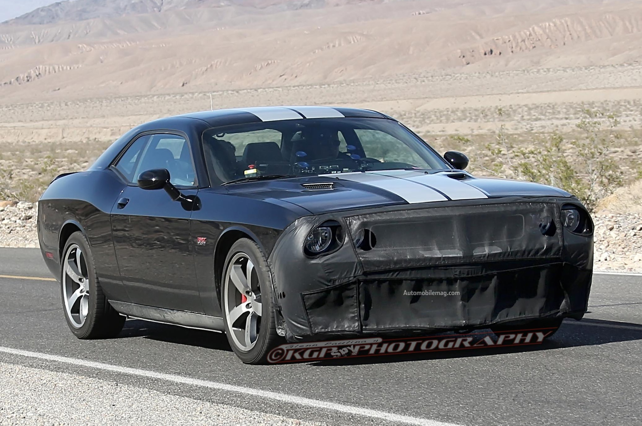 Supercharged Dodge Challenger Srt8 Hellcat Spied