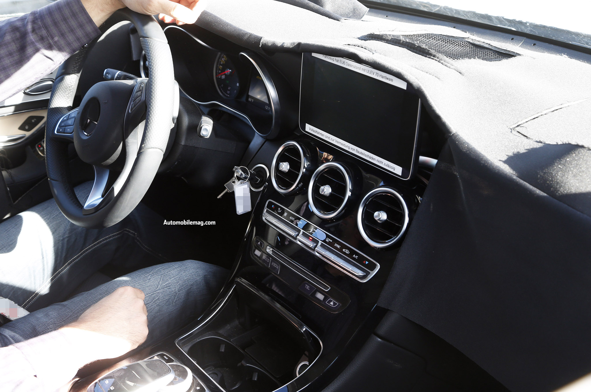 2015 Mercedes-Benz GLK-Class Interior Spied