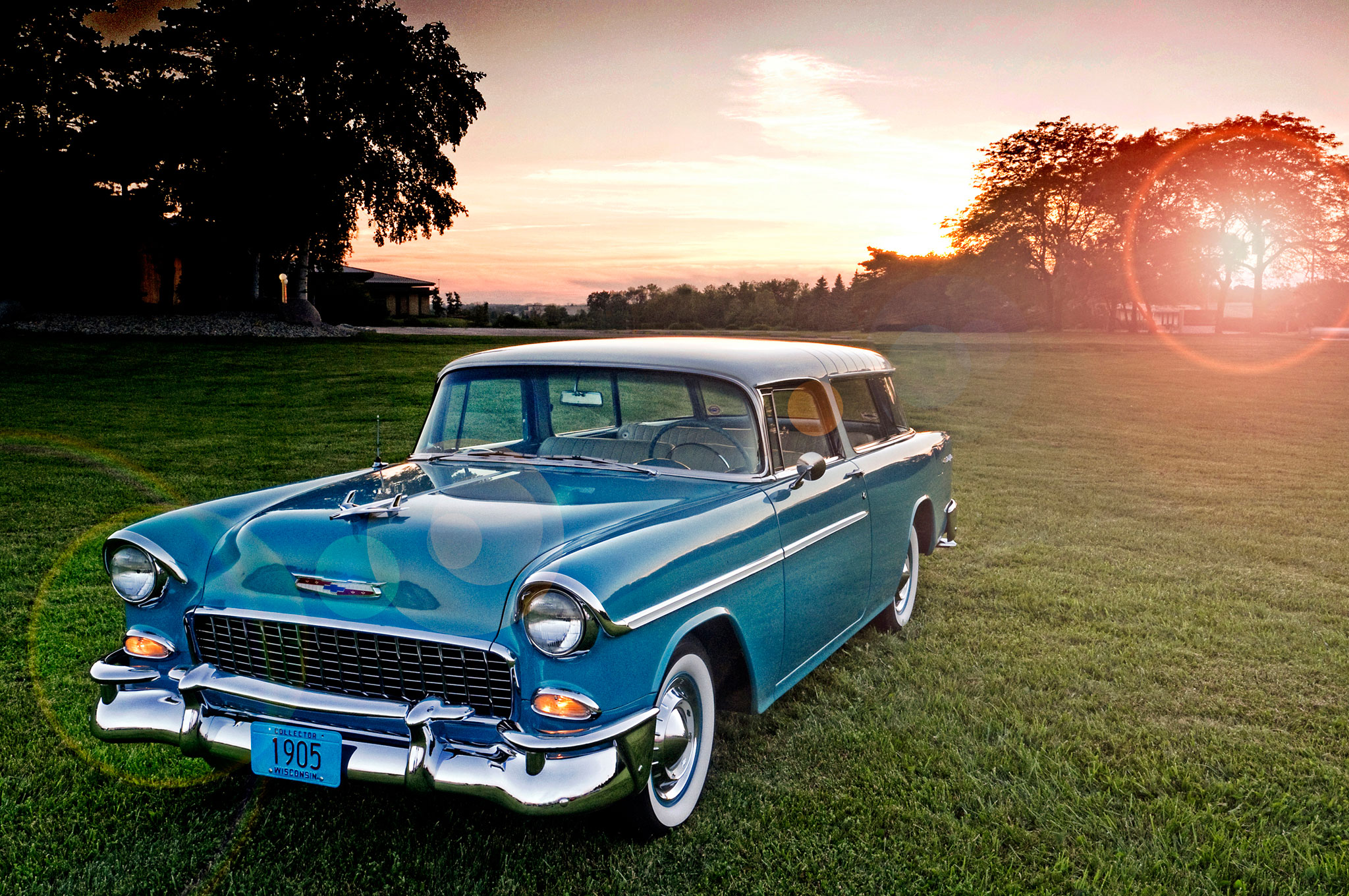 1955 1957 Chevrolet Nomad Front Left View1