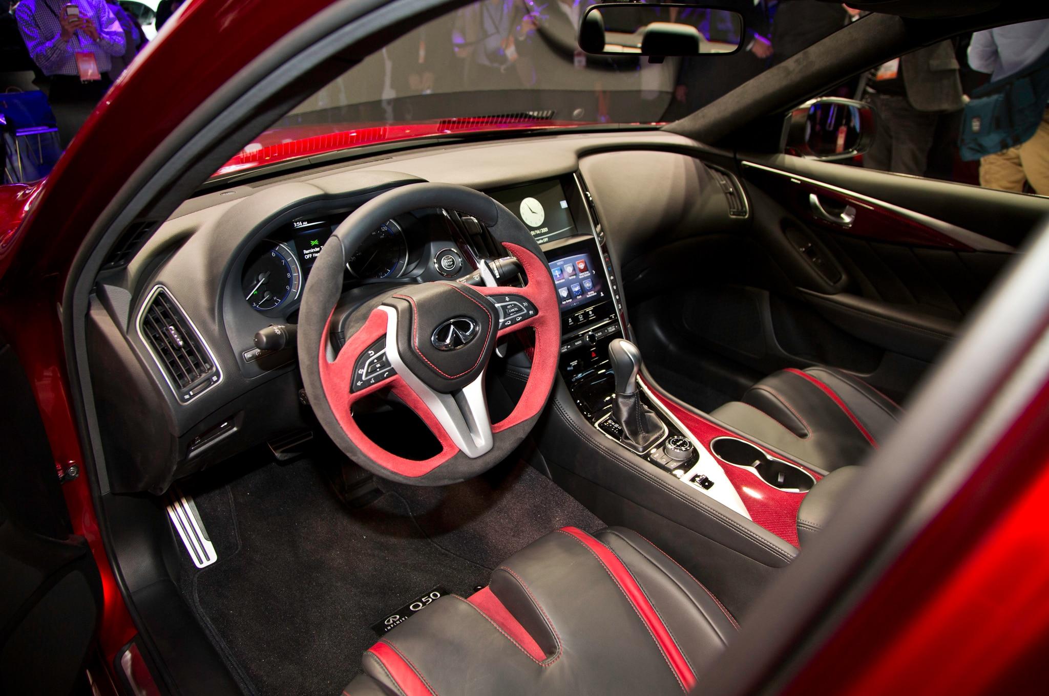 detroit 2014 de nysschen insists infiniti q50 eau rouge will go rh automobilemag com q50 red sport manual transmission 2014 q50 manual transmission