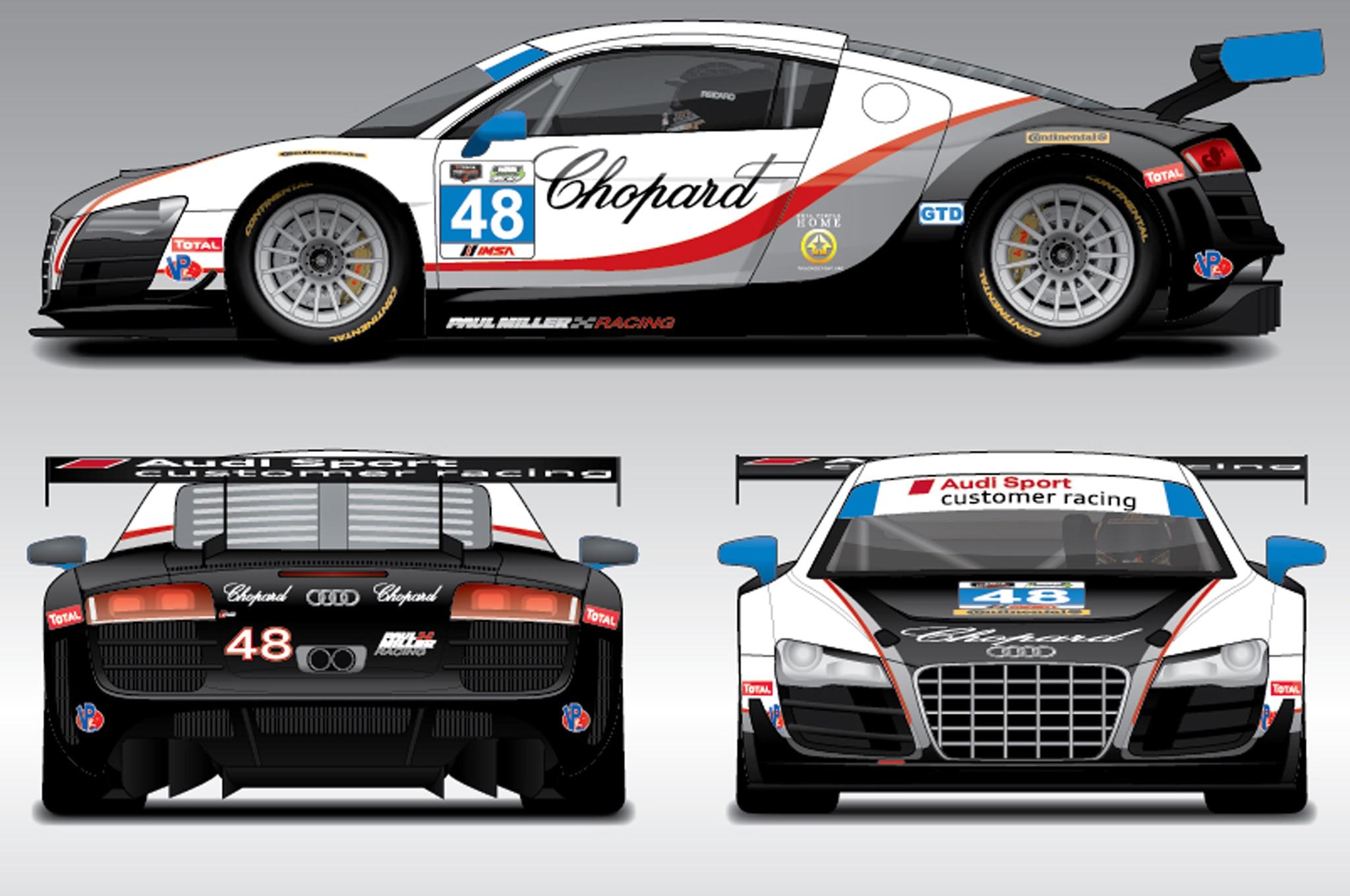 Audi Releases Liveries For Daytona R Endurance Racers Automobile - Paul miller audi