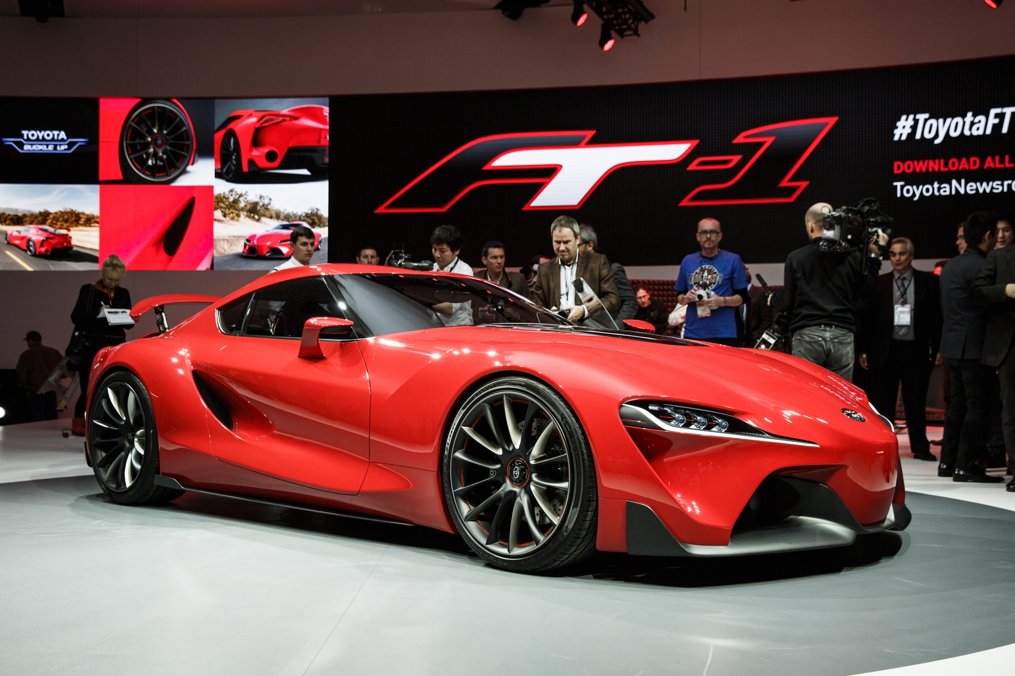 ... Previews Future Sports Car. Toyota Ft 1 Concept Detroit Front Three  Quarter3