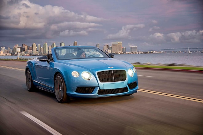 2014 Bentley Continental GT V8 S Front Three Quarter In Motion 102