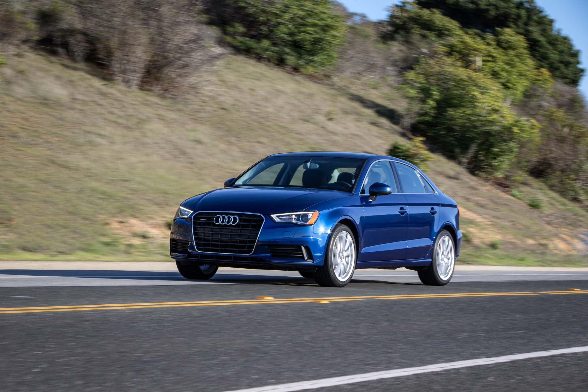 2015 Audi A3 Front Three Quarters In Motion1
