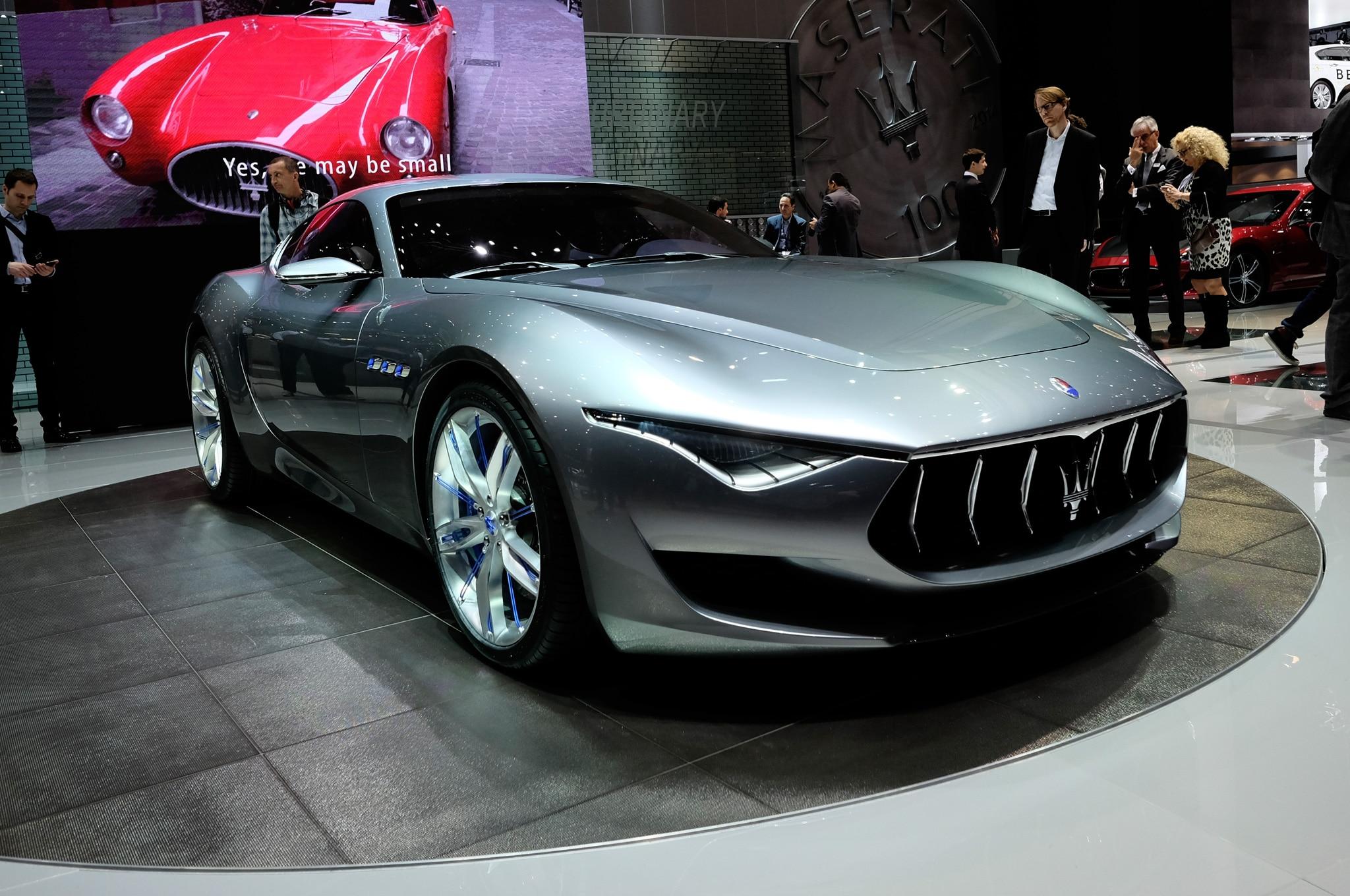 Maserati Alfieri Concept Front Three Quarters View Live