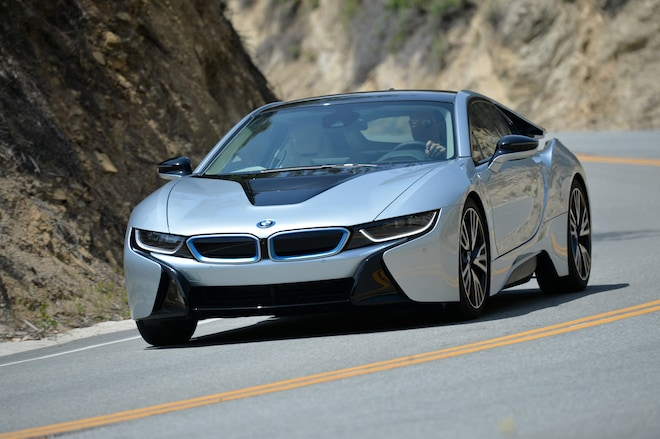 2014 BMW I8 Front Three Quarter In Motion1