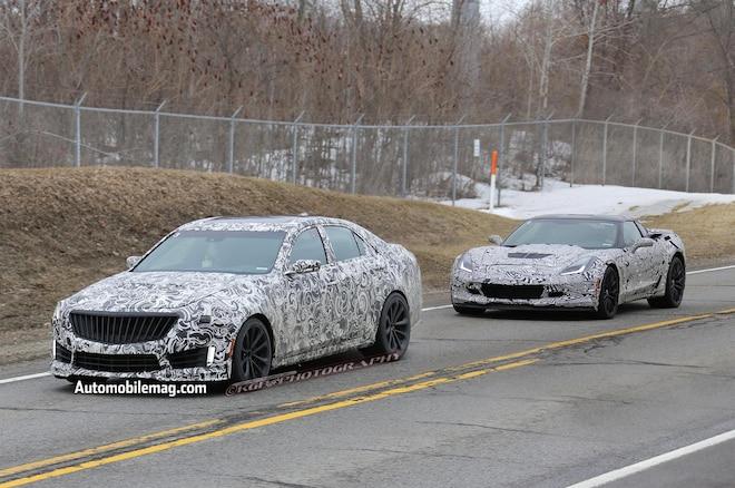 2015 Cadillac Cts V Spy Shot 21 Front Three Quarter With Z061
