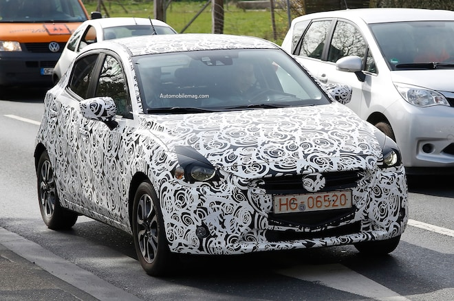 2015 Mazda 2 Spied Front Three Quarters1