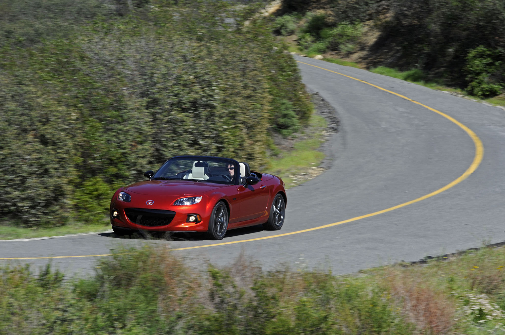 2015 Mazda Miata 25th Anniversary Edition 22 Front Three Quarter In Motion
