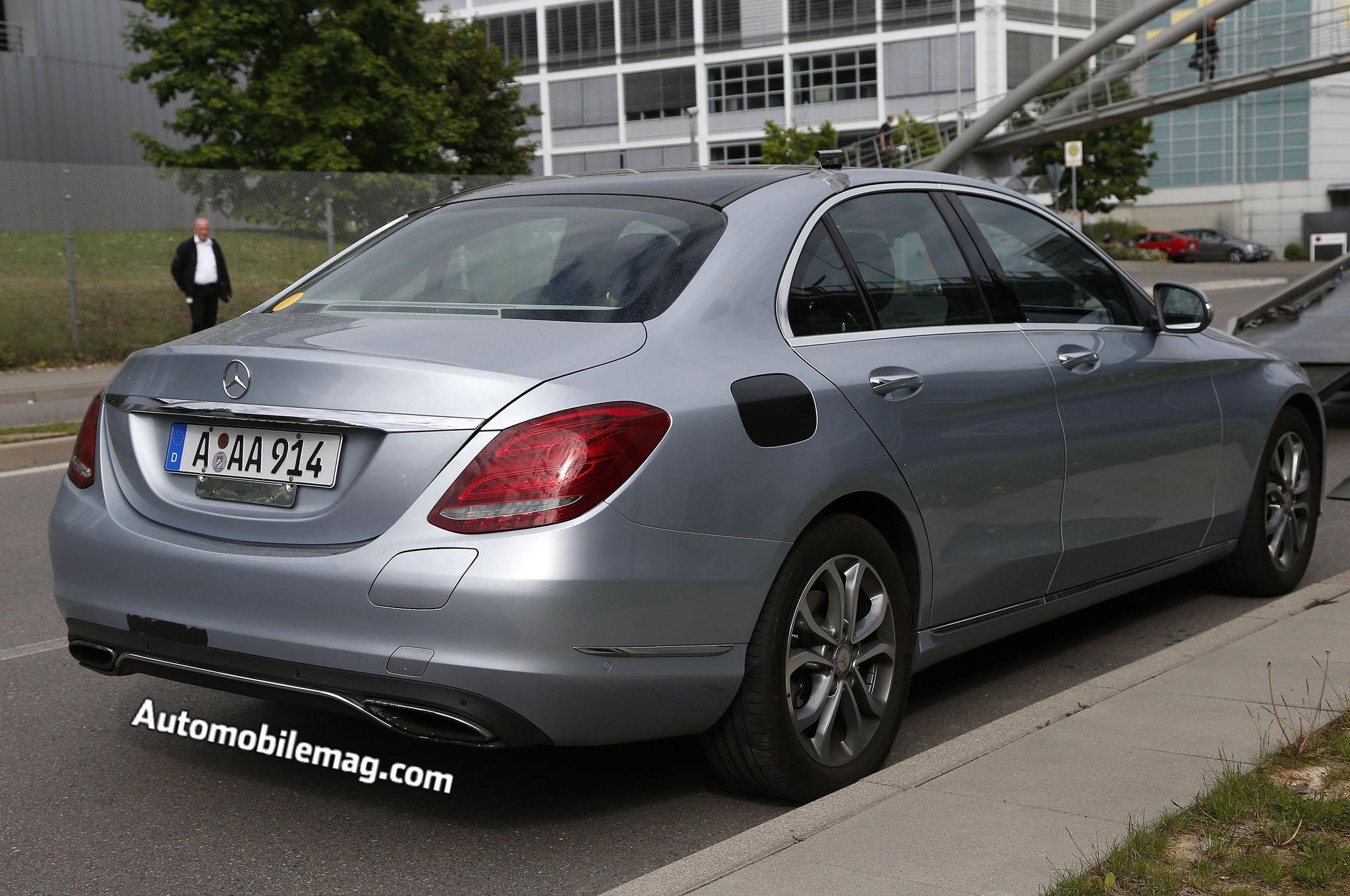 Mercedes Benz C Class Plug In Hybrid Spied