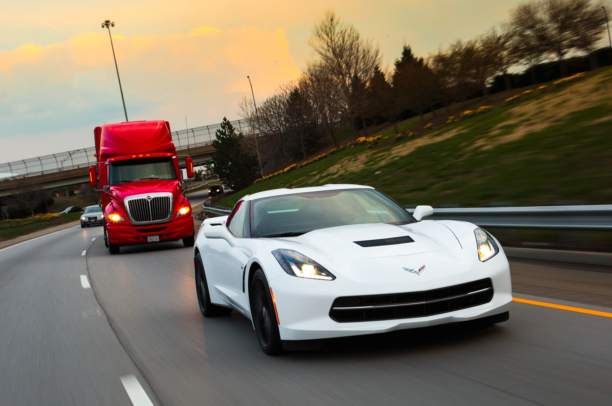 2014 Chevrolet Corvette Front Three Quarter Highway1
