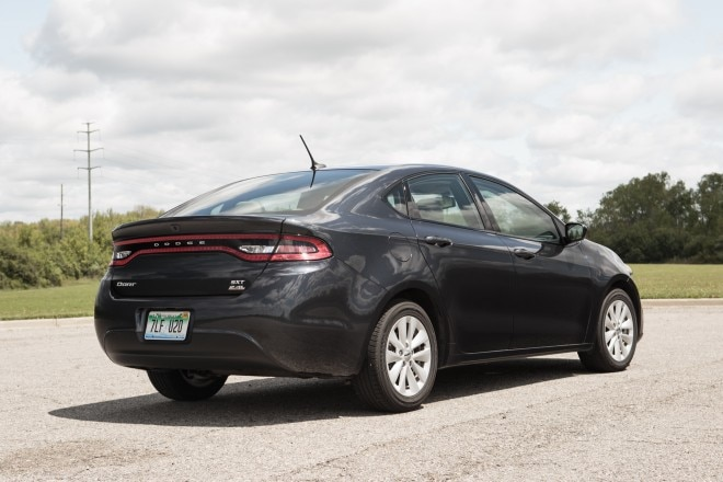 2014 dodge dart sxt rear three quarter