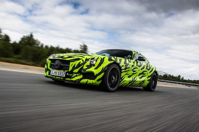 2015 Mercedes Amg Gt S Front Three Quarter Motion Track 5