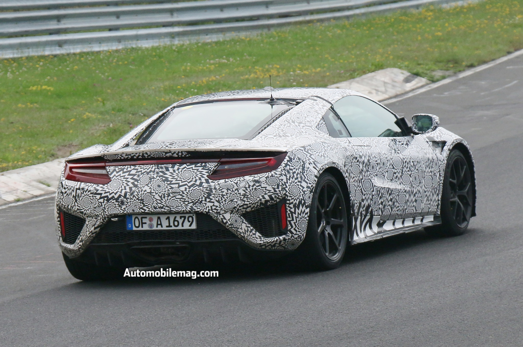 2015 Acura Nsx Prototype Burns At The Nurburgring