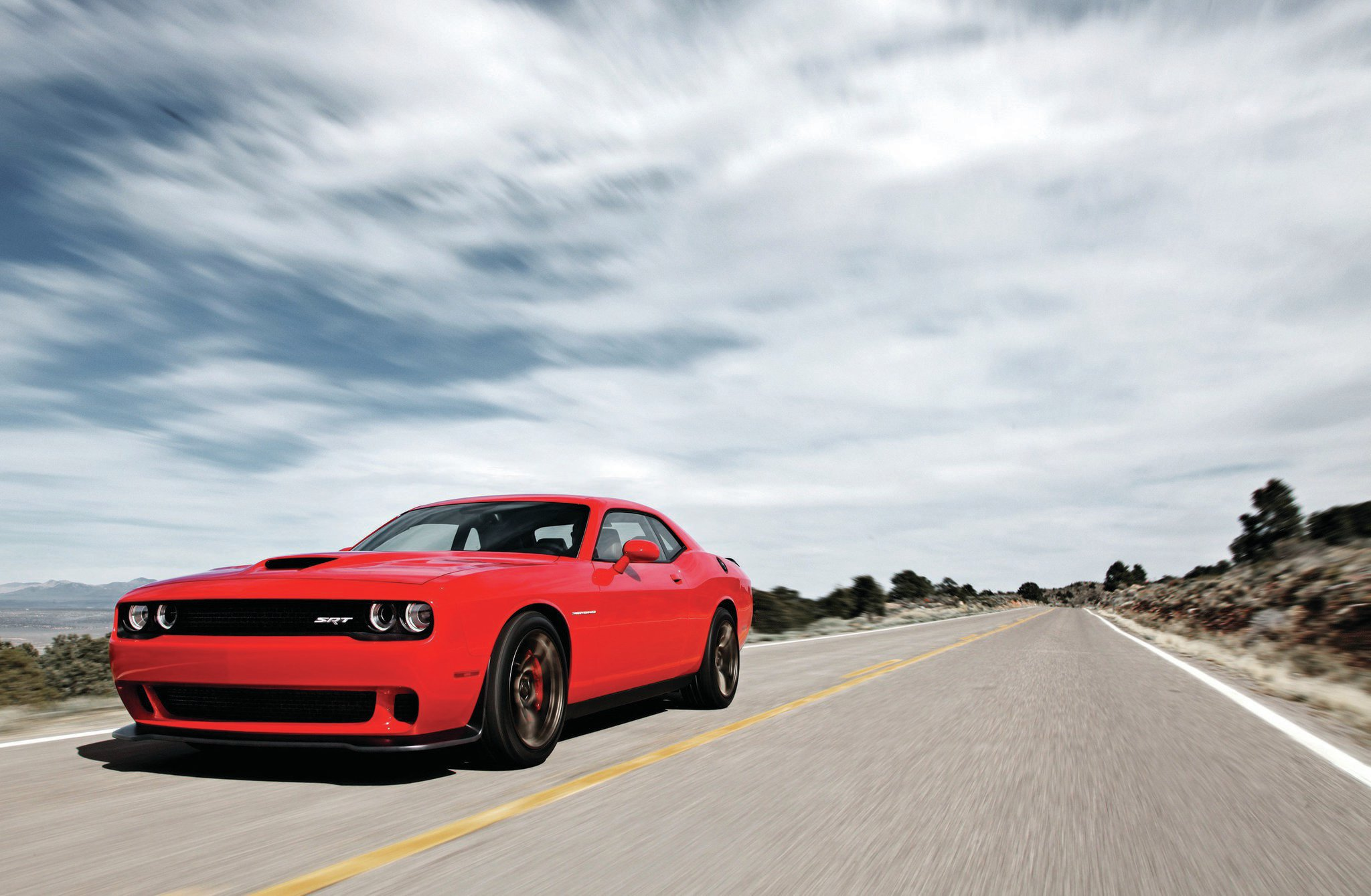 2015 Dodge Challenger Hellcat Front Three Quarter