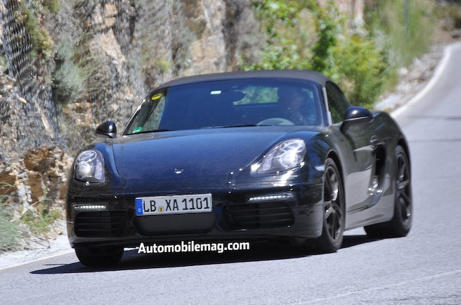 Porsche Boxster Refresh Spied Front Three Quarter 21
