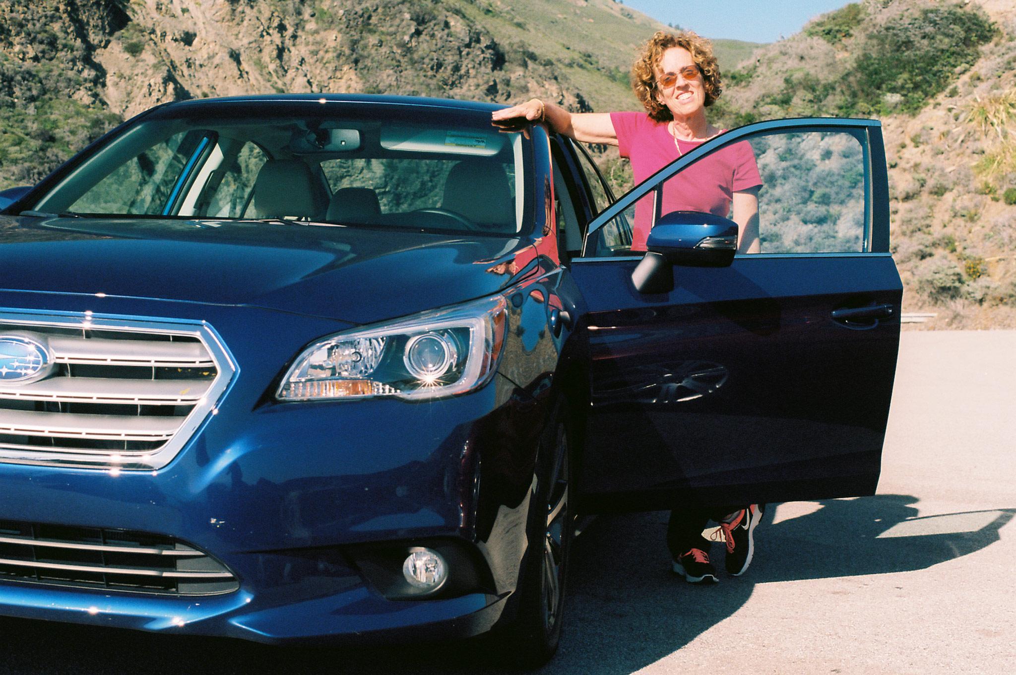 Sara Zenlea With 2015 Subaru Legacy Front