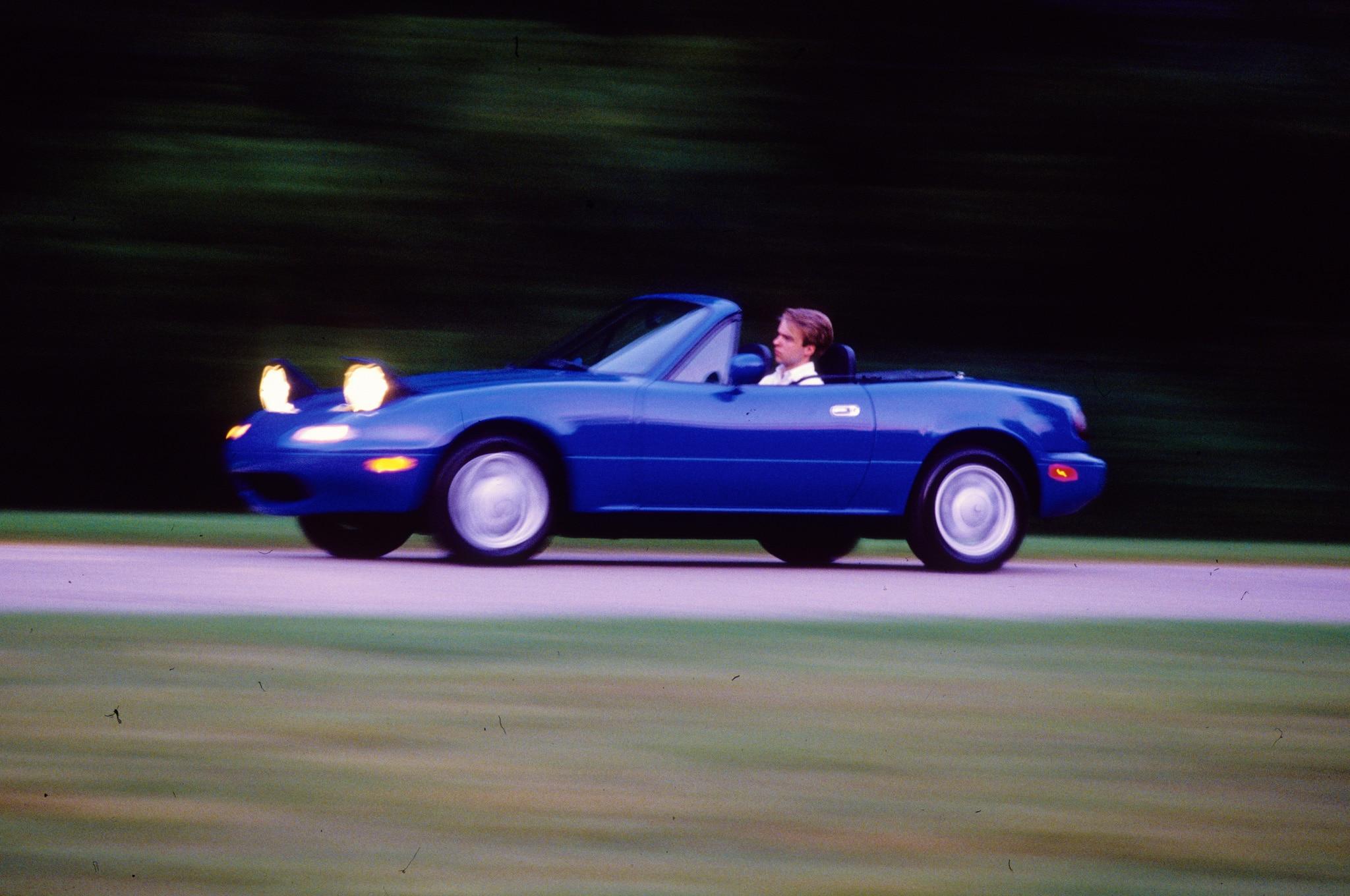 1990 Mazda MX 5 Miata Side View At Speed