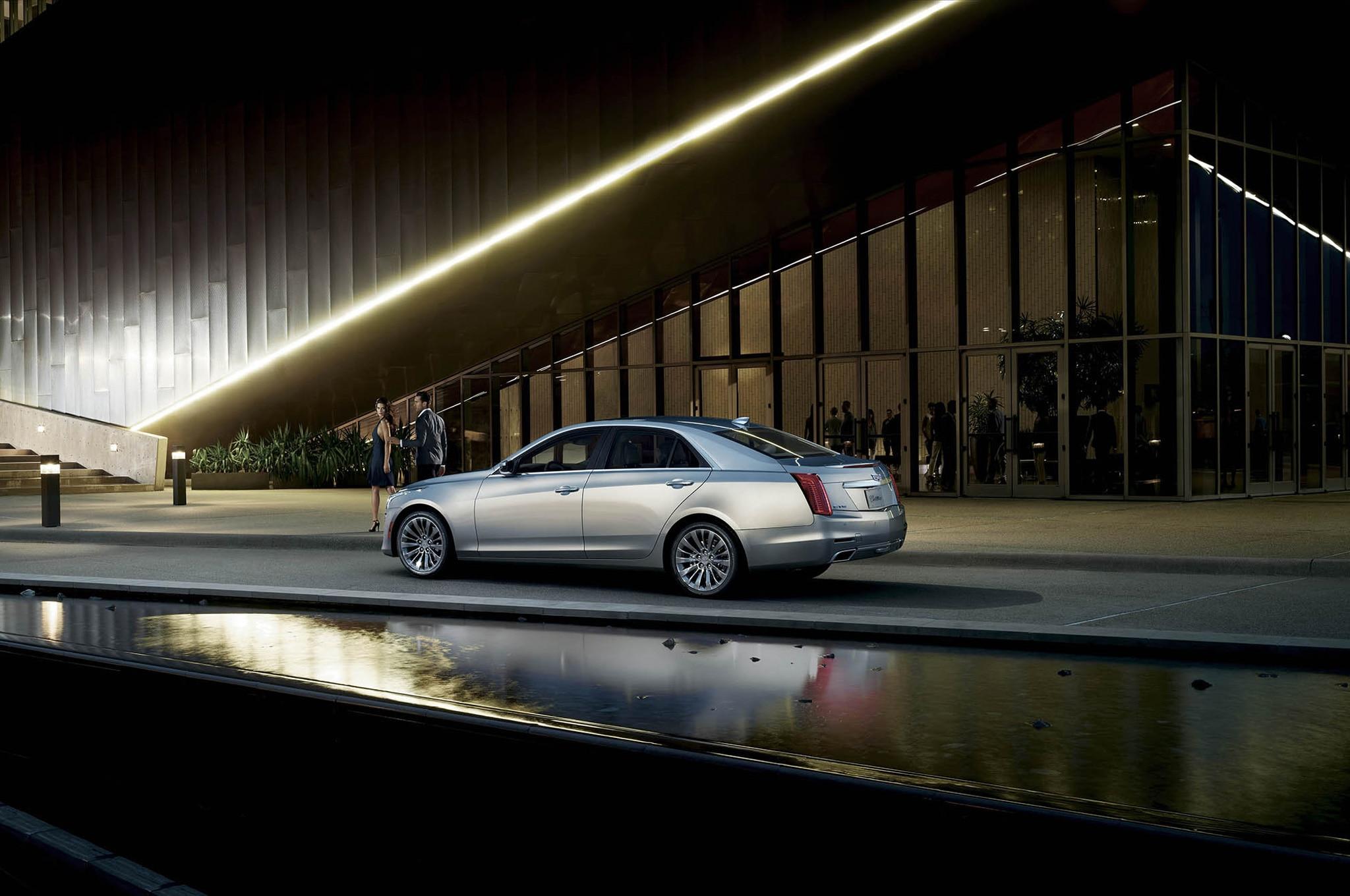 2015 Cadillac CTS Rear Three Quarter In Motion1