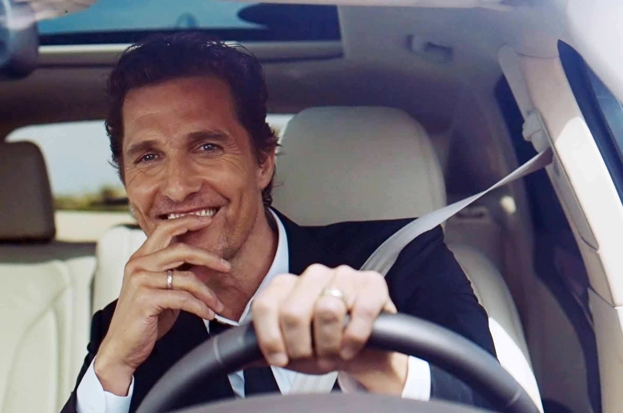 Matthew McConaughey With 2015 Lincoln MKC 2