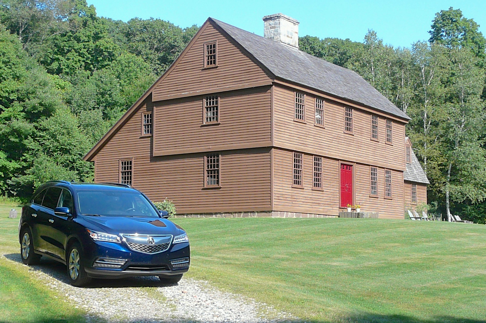 2014 Acura MDX With Brown House