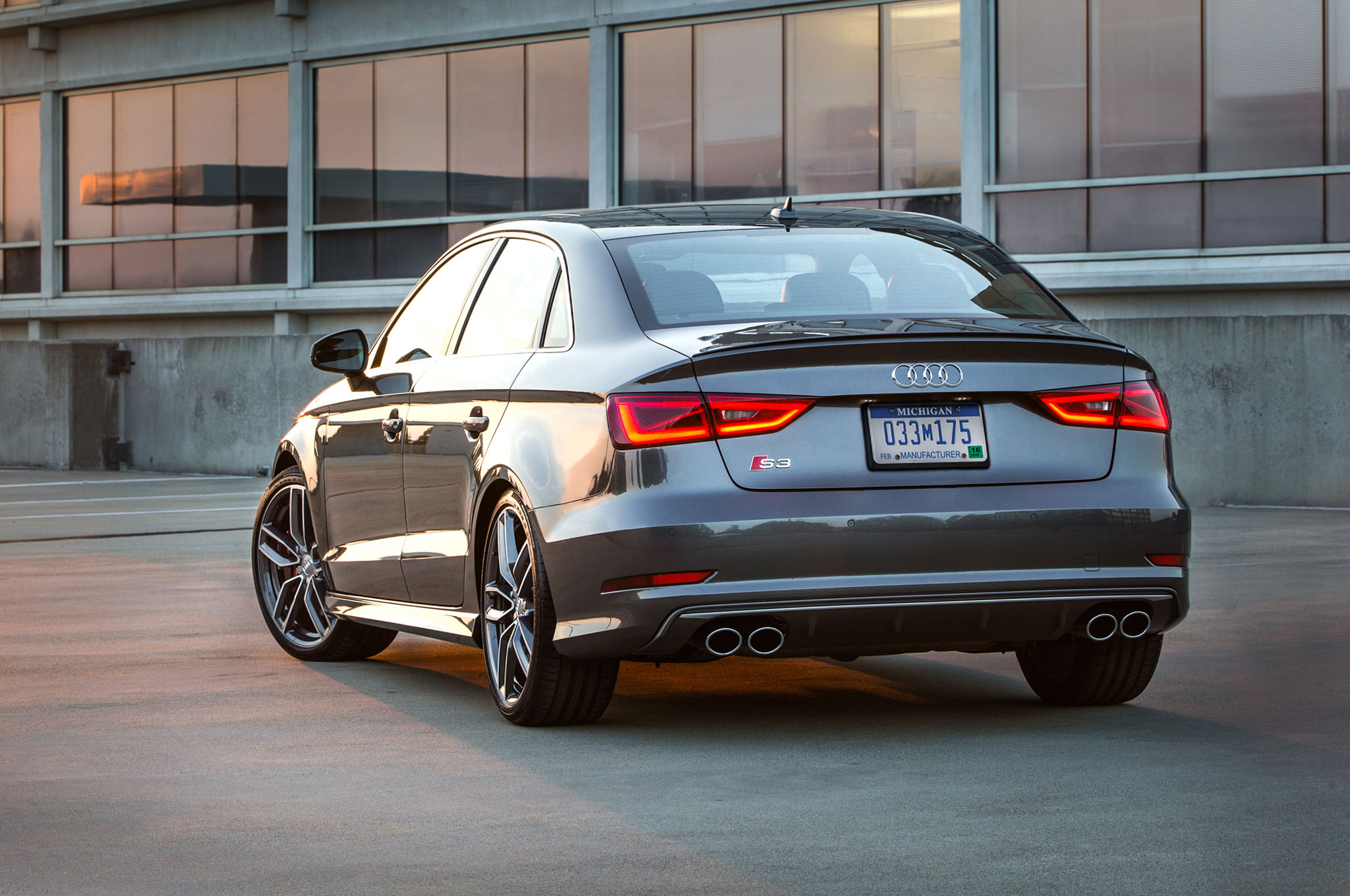 2015 Audi A3 Sedan Rear Side View Photo 35: 2015 Audi S3 Has 350-Car Limited Edition