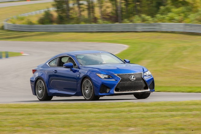 2015 Lexus RC F Front Three Quarter In Motion 051