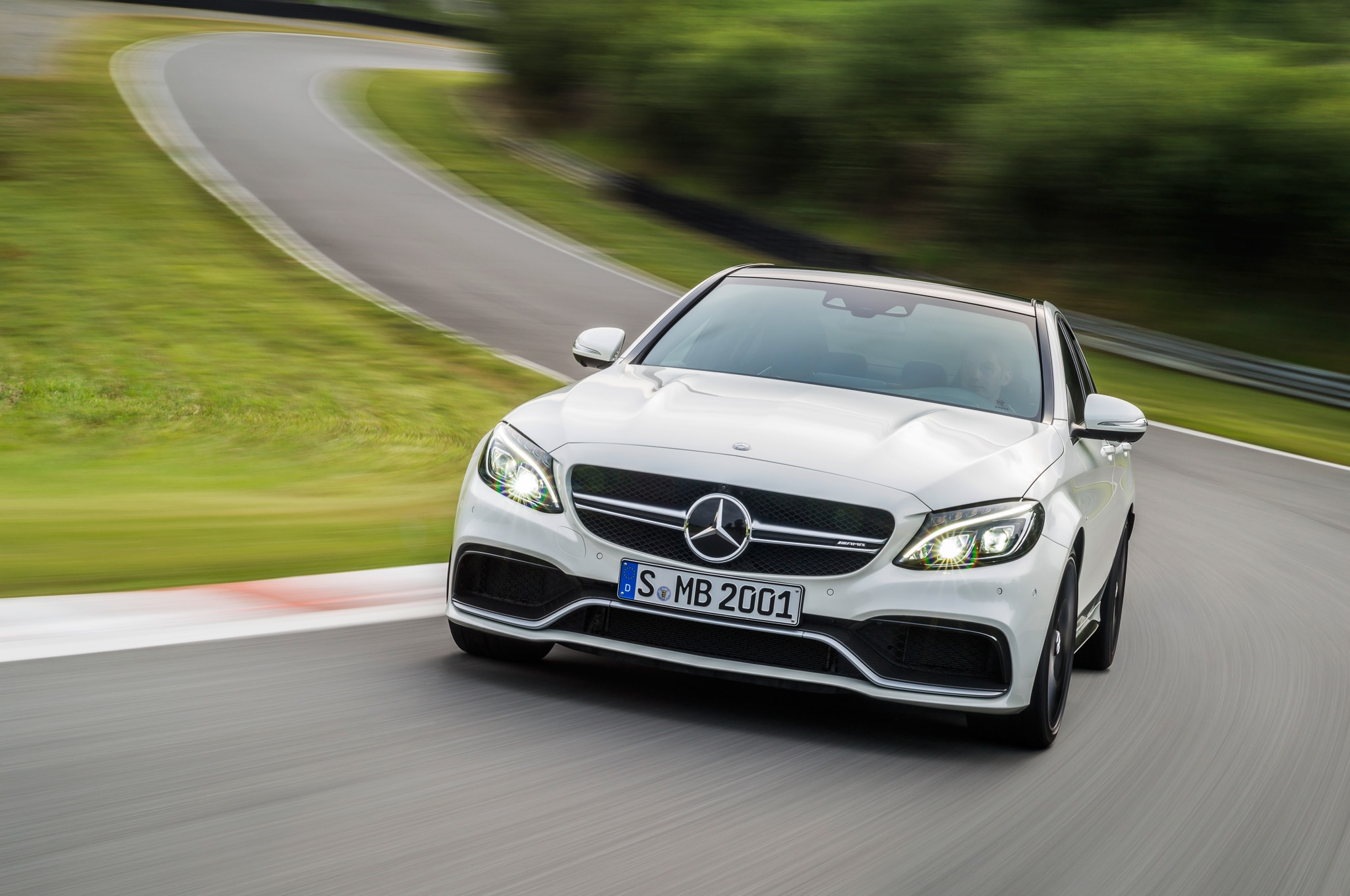 2015 Mercedes AMG C63 S Front End In Motion1