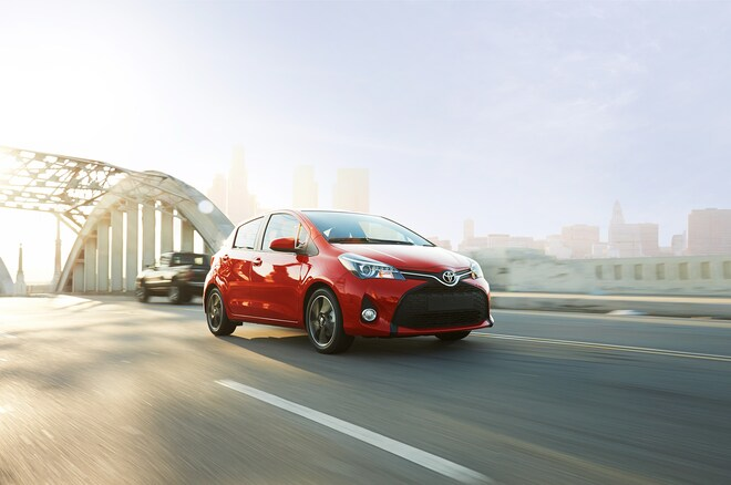 2015 Toyota Yaris Front Three Quarter In Motion