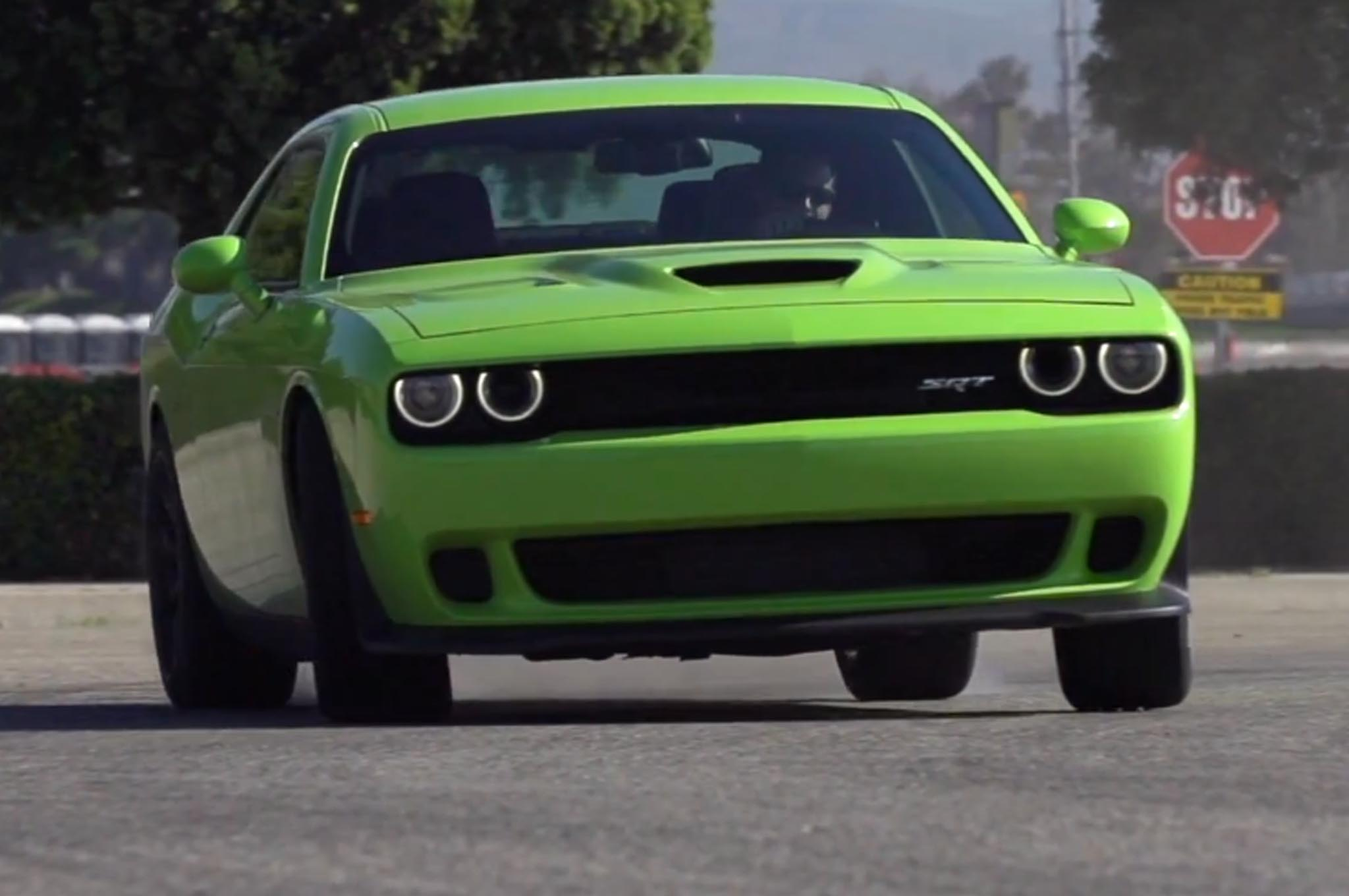 Watch the 2015 Dodge Challenger SRT Hellcat Burn Rubber on Ignition