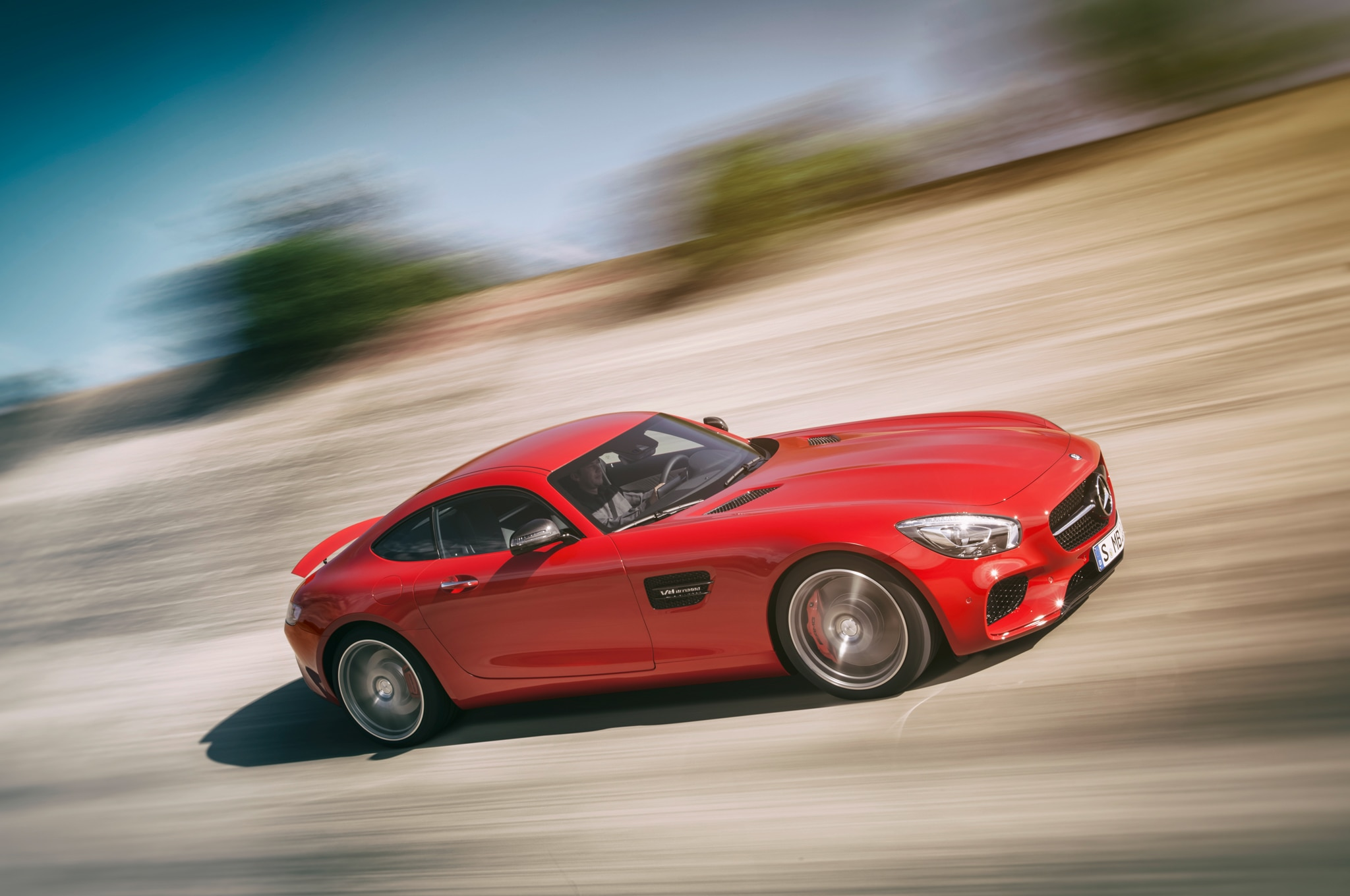 2016 Mercedes AMG GT Side Front Three Quarter In Motion2
