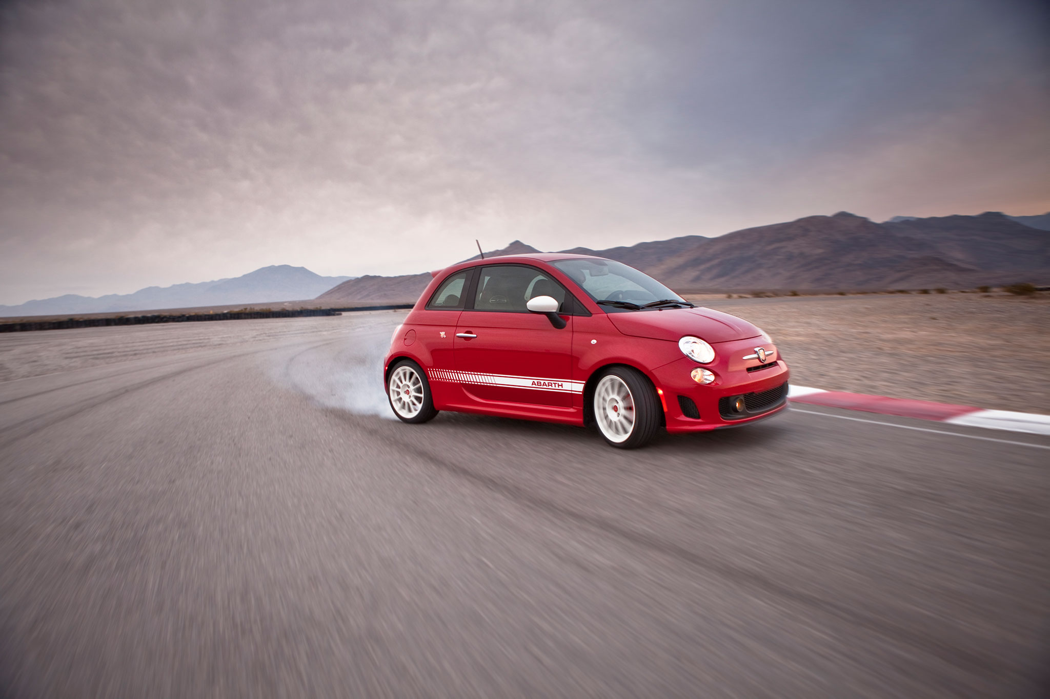 2014 Fiat 500 Abarth Passengers Side Drift1