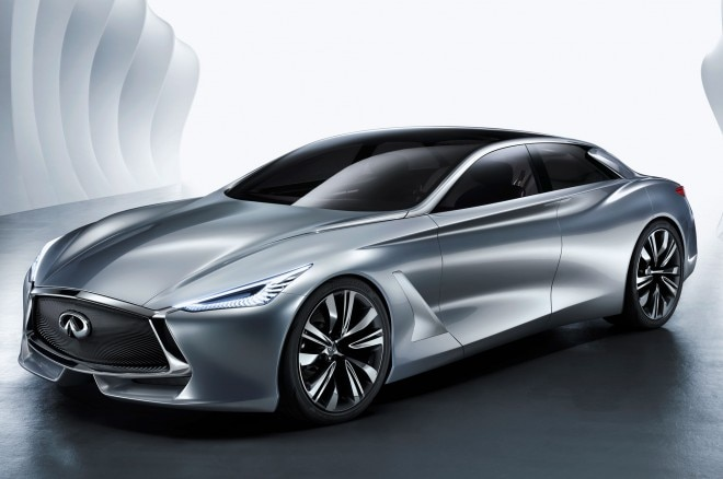 Infiniti Q80 Inspiration concept front three quarter view 2