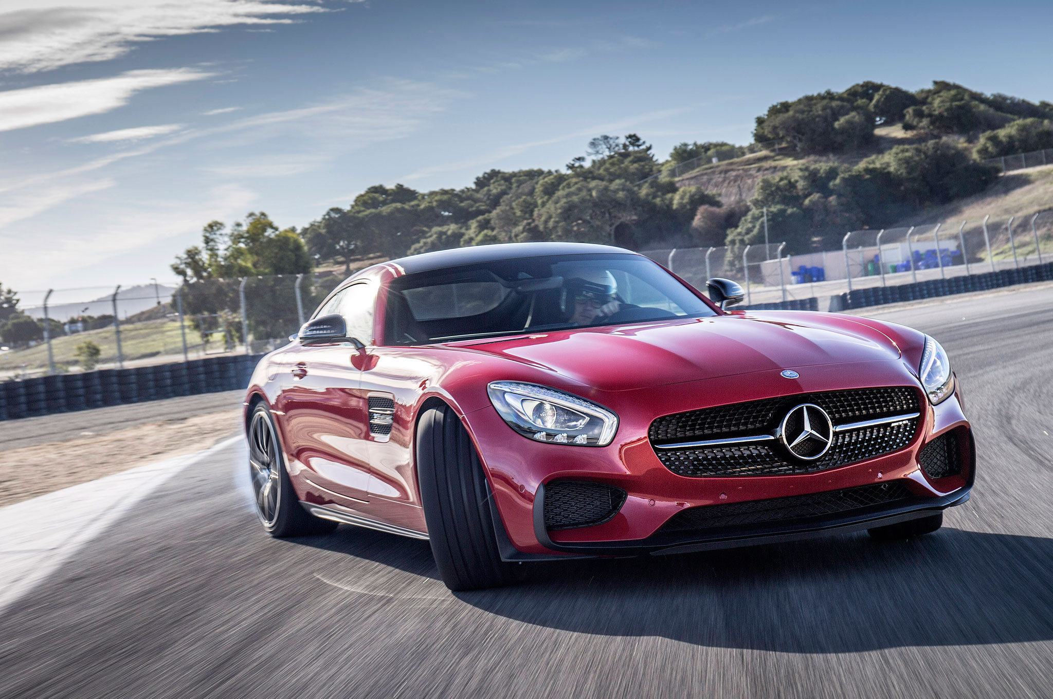 2016 Mercedes AMG GT S Edition 1 Front Three Quarter In Motion 12
