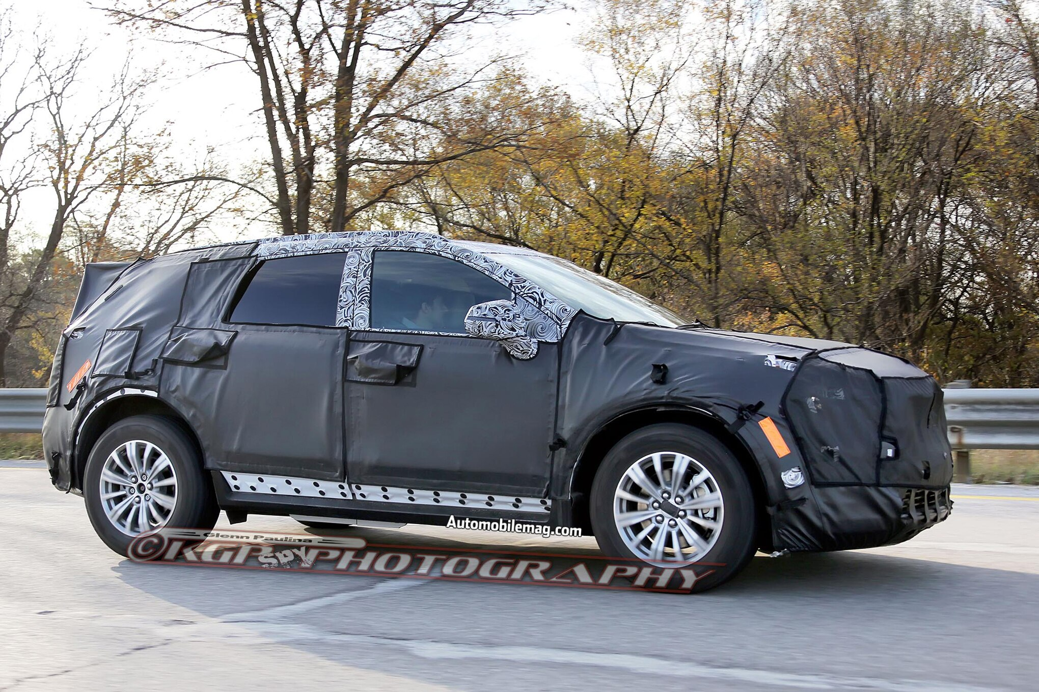Cadillac XT5 Prototype Spied Side In Motion1