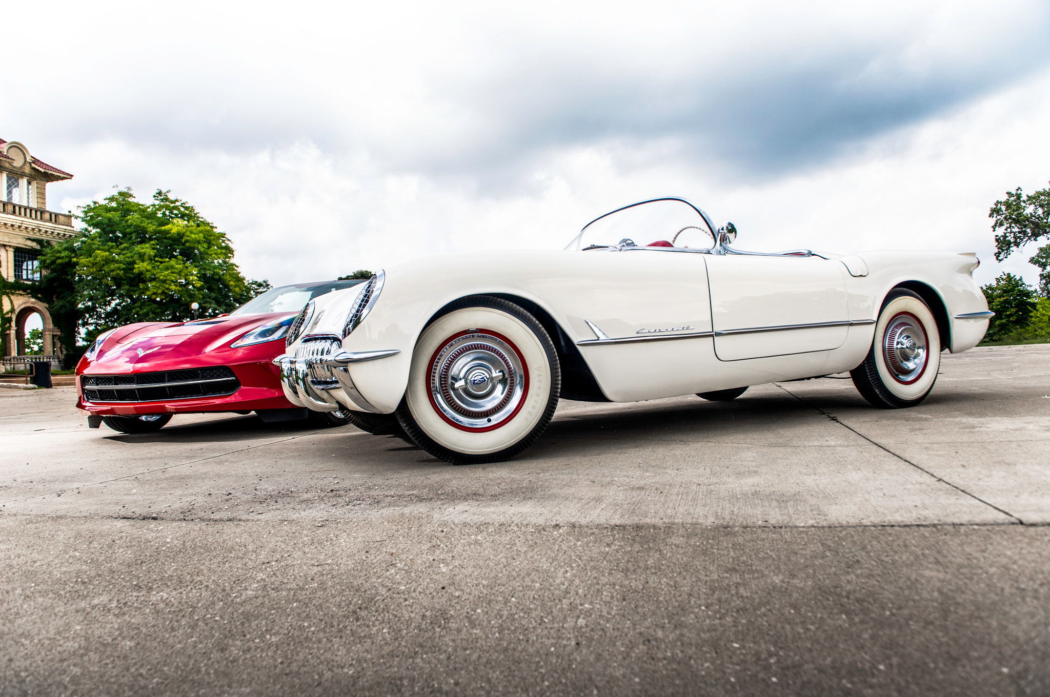 then vs now 2015 chevrolet corvette vs 1954 chevrolet corvette 1954 Corvette ZR1 show more