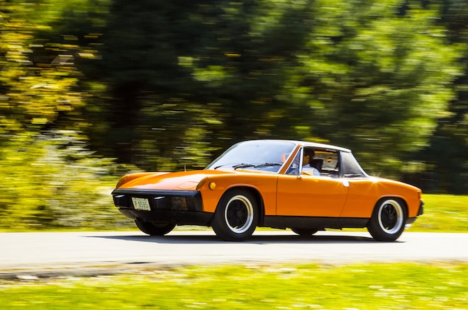 1970 1976 Porsche 914 Front View In Motion