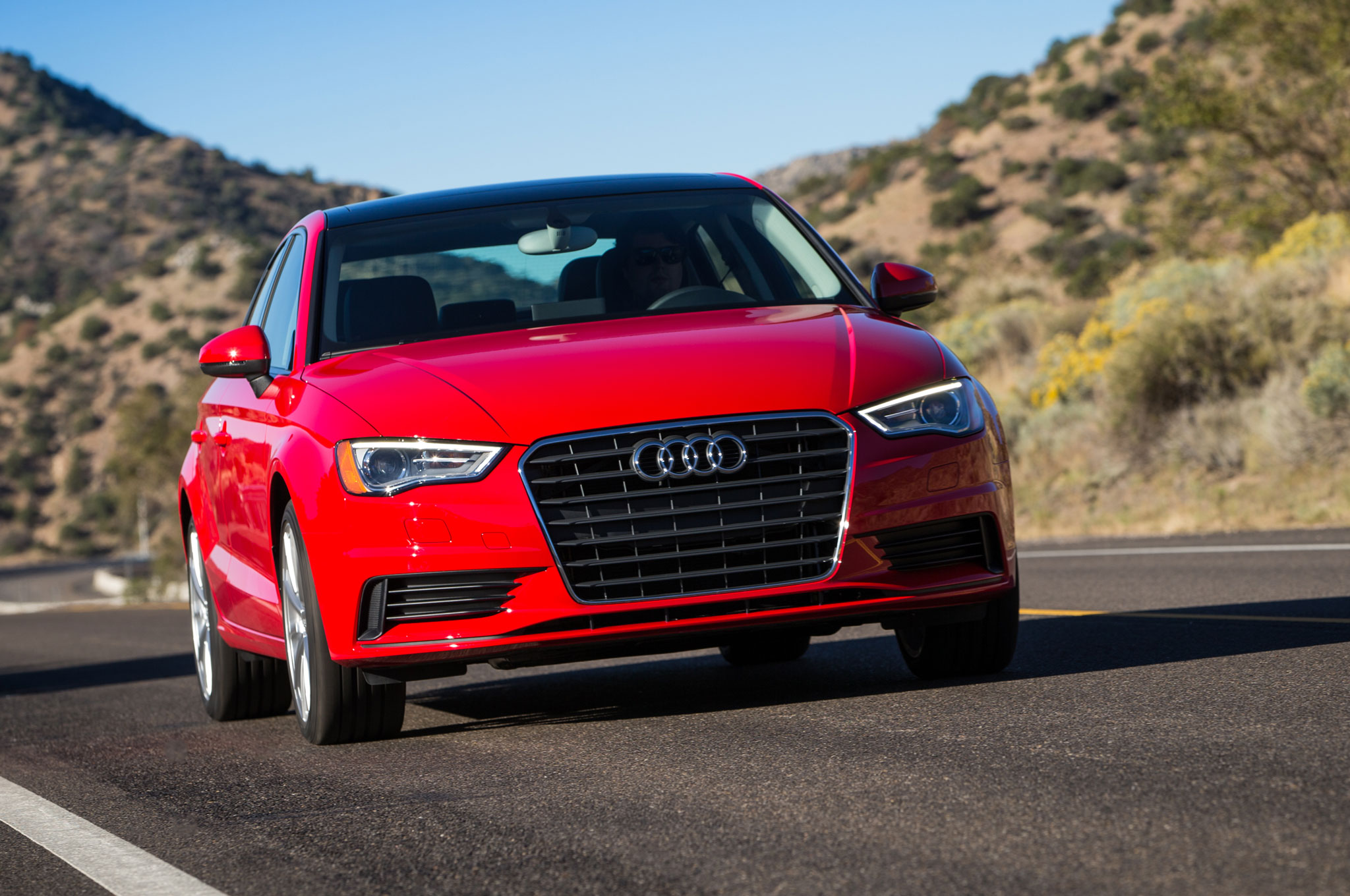 2015 Audi A3 TDI Front View In Motion