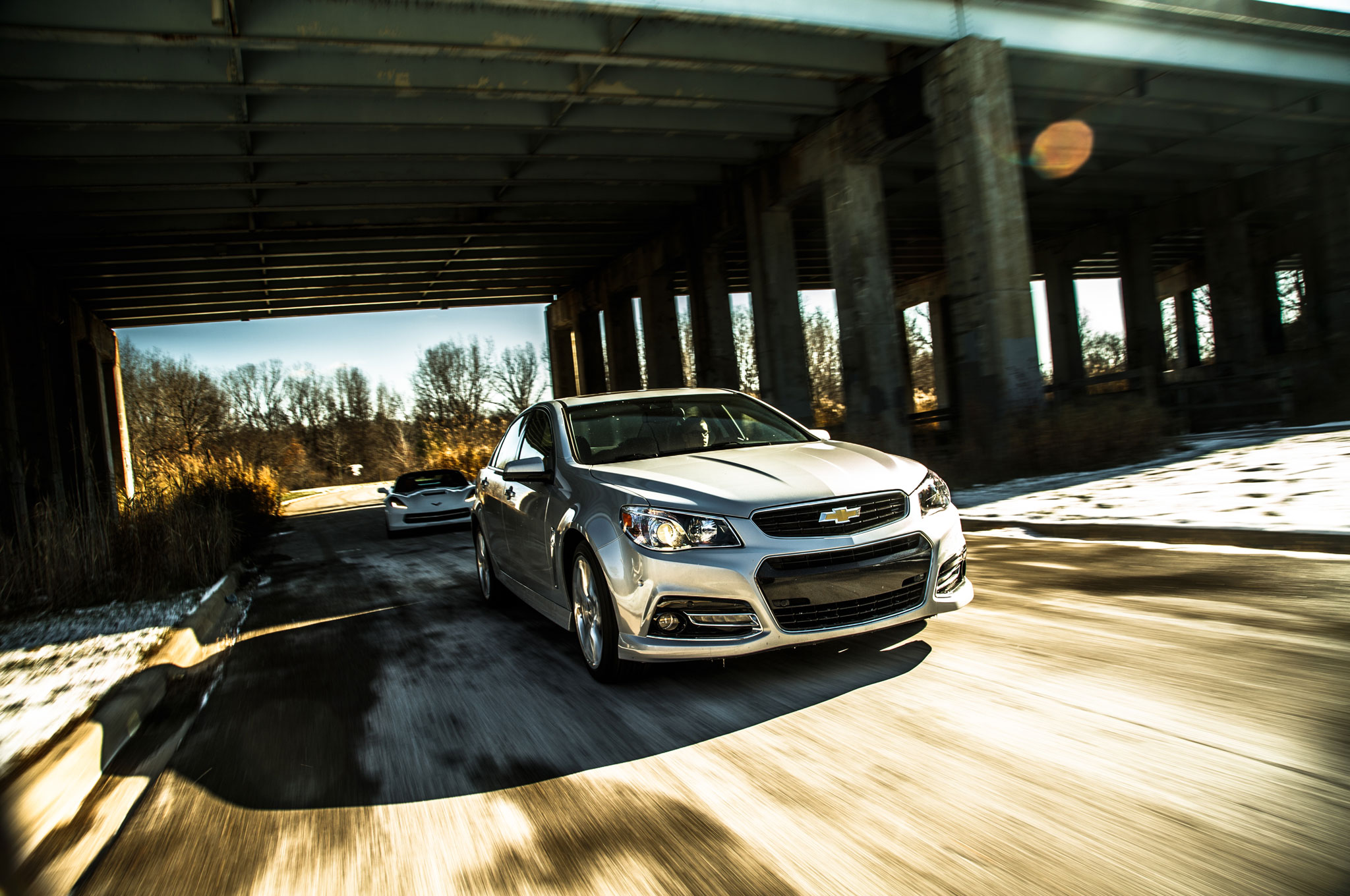 2015 Chevrolet SS Front Three Quarter In Motion 1