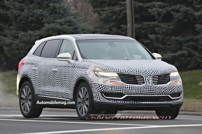 2016 Lincoln MKX Prototype Front Three Quarter 2