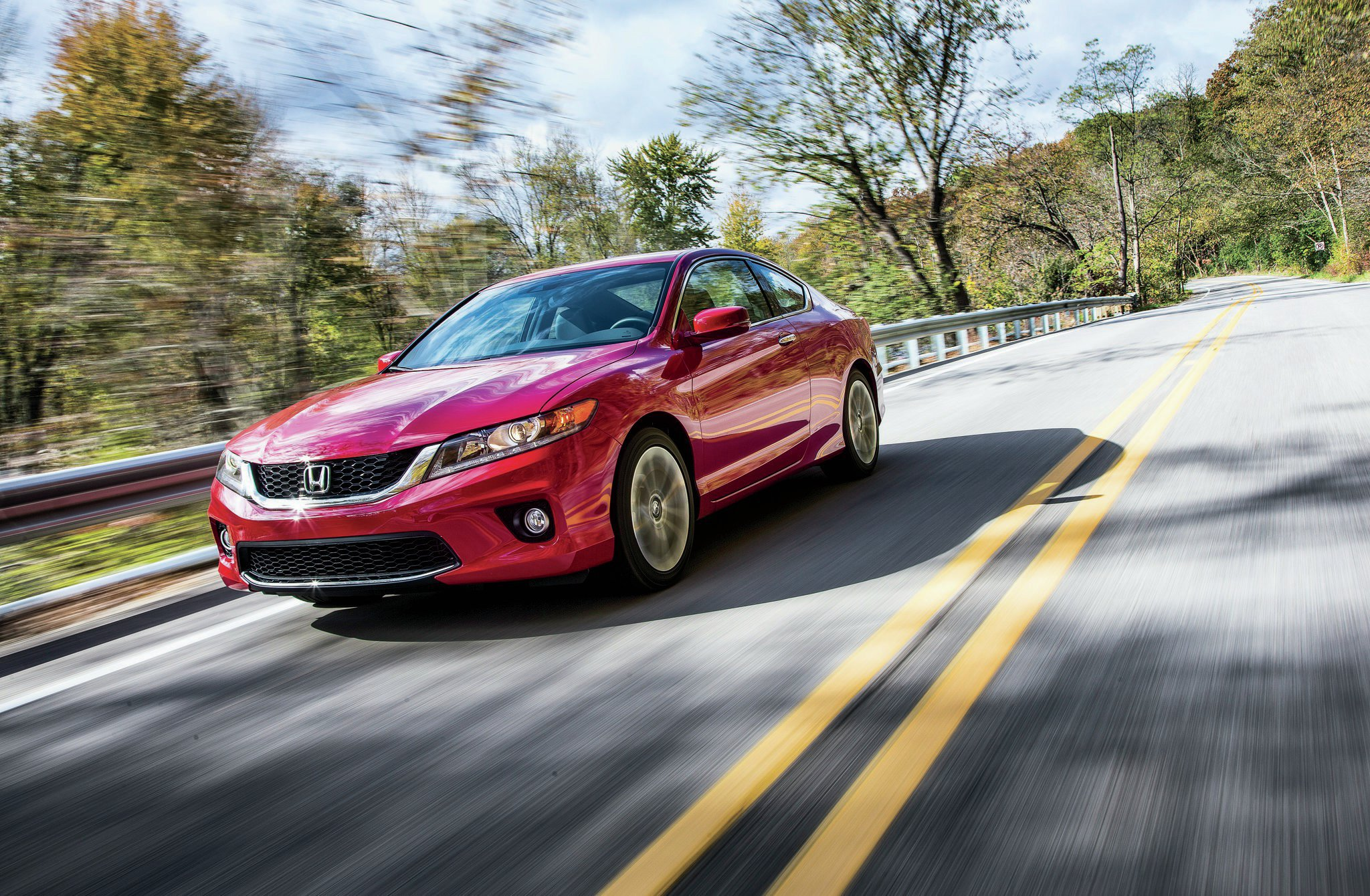 2014 Honda Accord EX L V 6 Coupe Front Three Quarter In Motion1