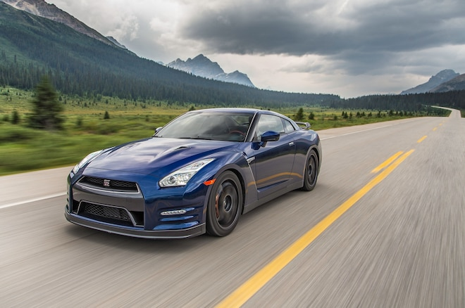 2015 Nissan GT R Black Edition In Motion