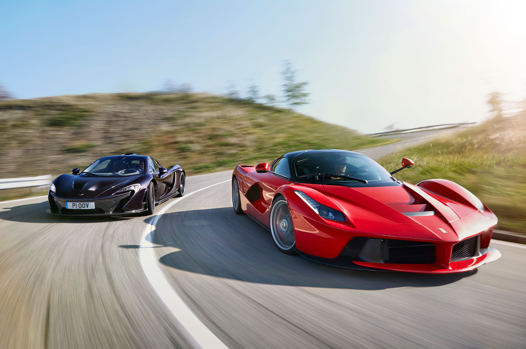 Pirelli P Zero >> Hybrid is the New Fast: Ferrari LaFerrari vs. McLaren P1