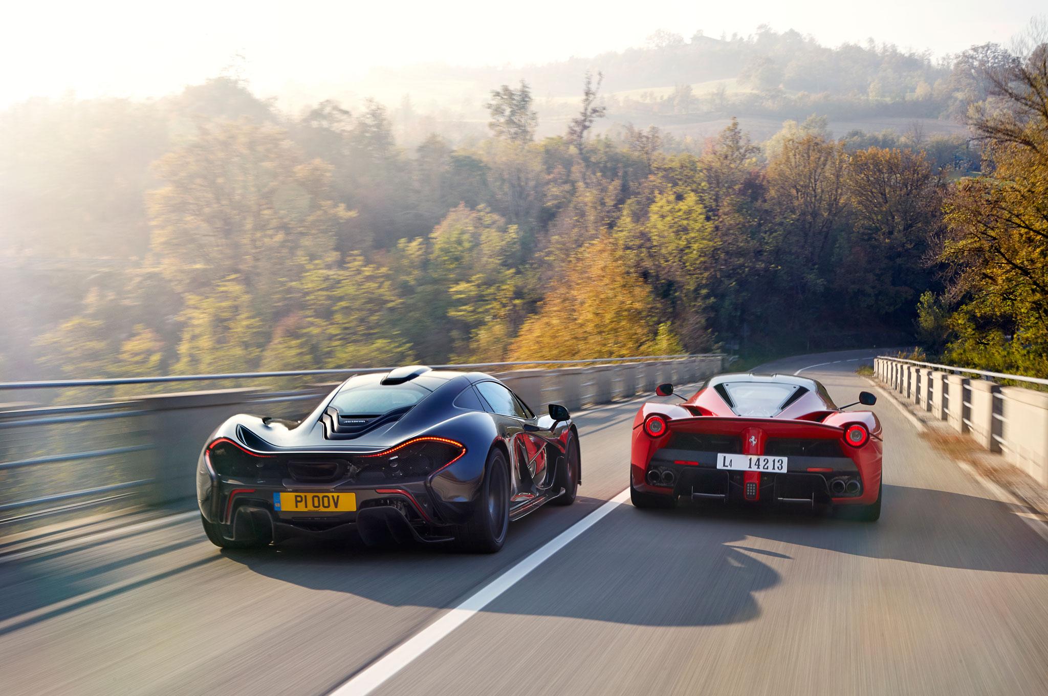 Hybrid Is The New Fast Ferrari Laferrari Vs Mclaren P1